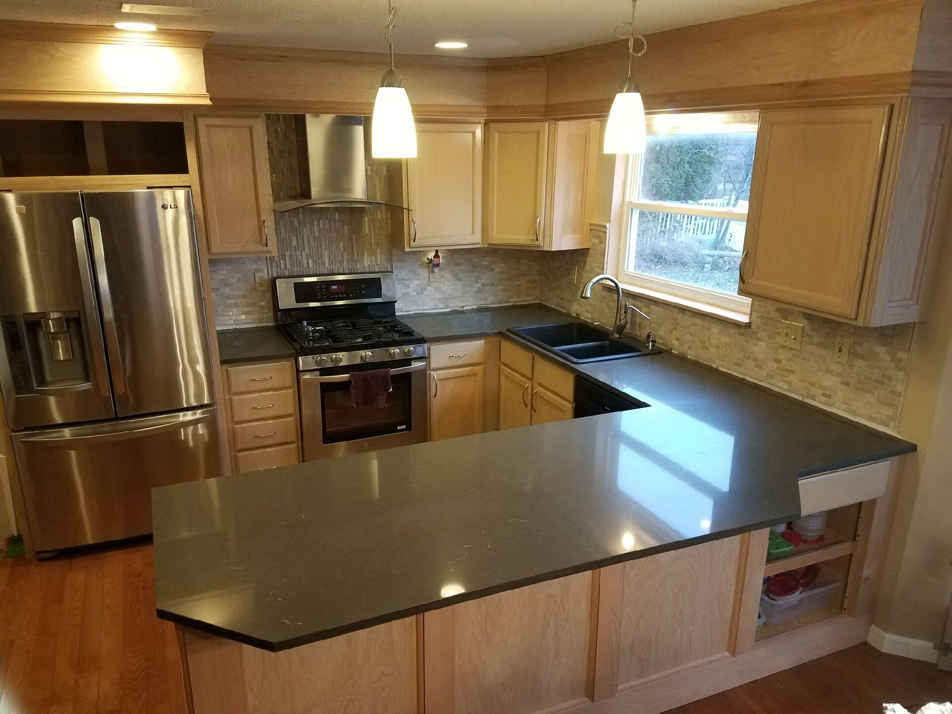Kitchens With Brown Quartz Countertops