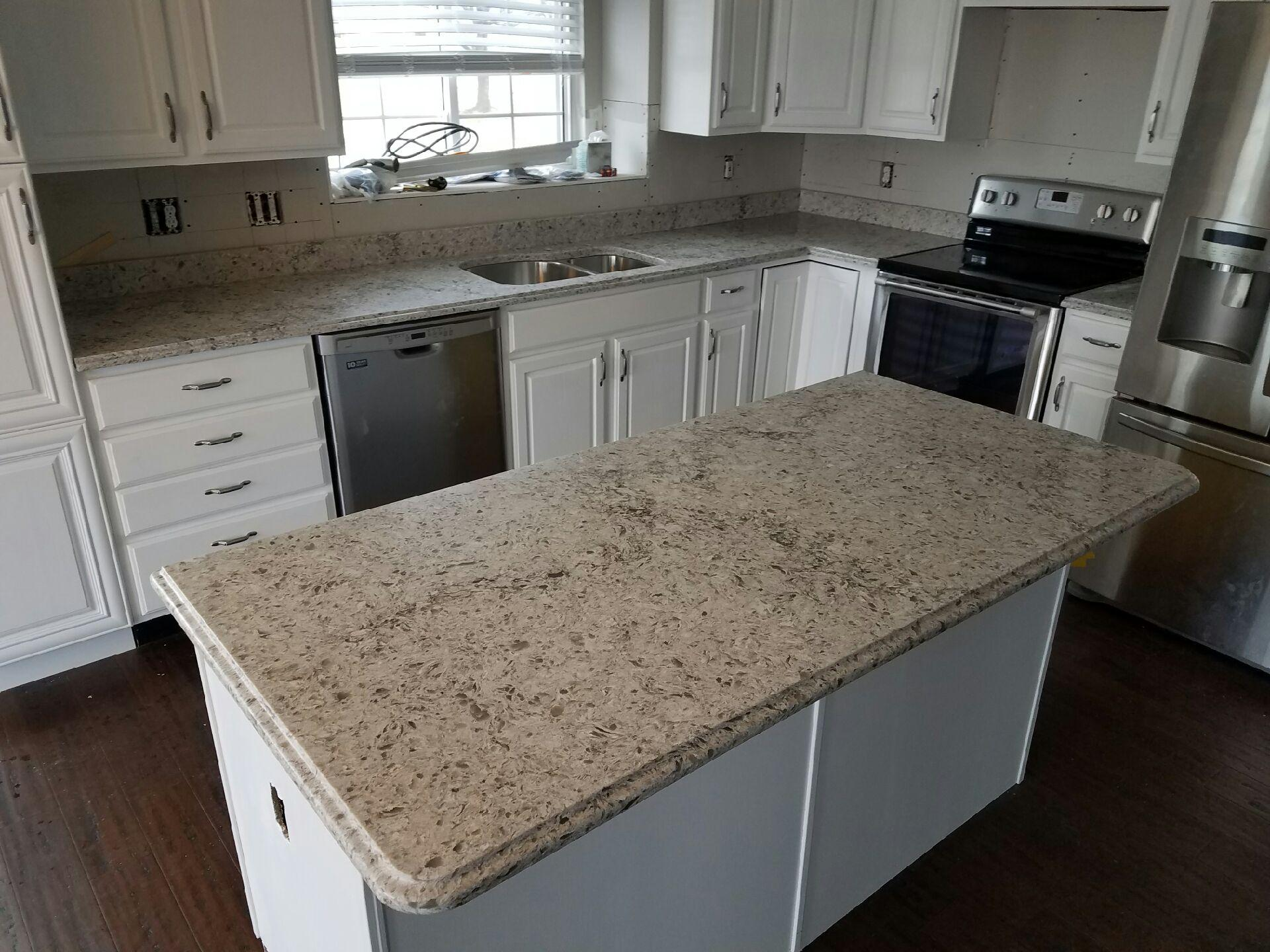 White Cabinets White Countertops Kitchen