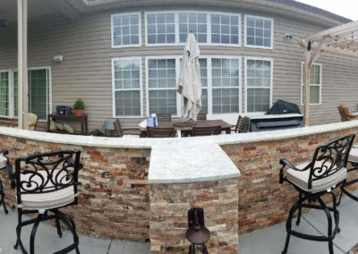 Colonial White Outdoor Kitchen