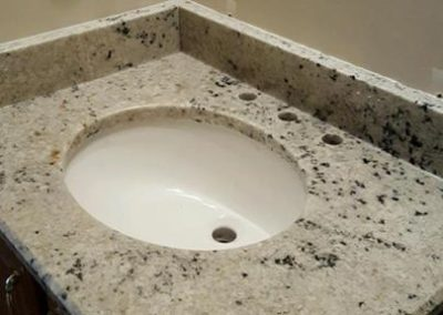 Colonial White vanity