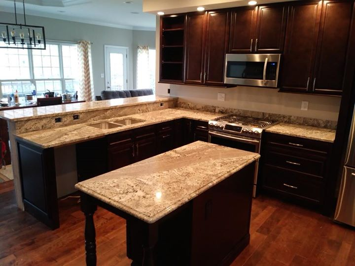 Gorgeous Bianco Paradiso kitchen recently installed! Ch...