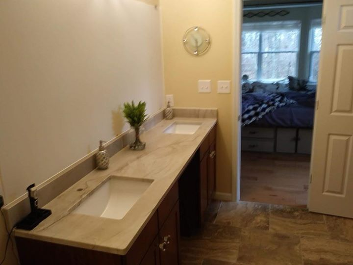White Pearl quartzite project installed recently. Check...