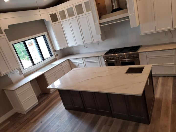 Hard to beat the beauty of quartzite countertops! www.e...