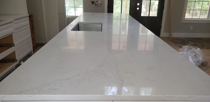 Recently installed Aggranite-Spring quartz kitchen.  Su...